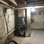 HVAC System installation basement