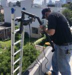 HVAC roof install