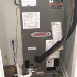 HVAC System installation in closet